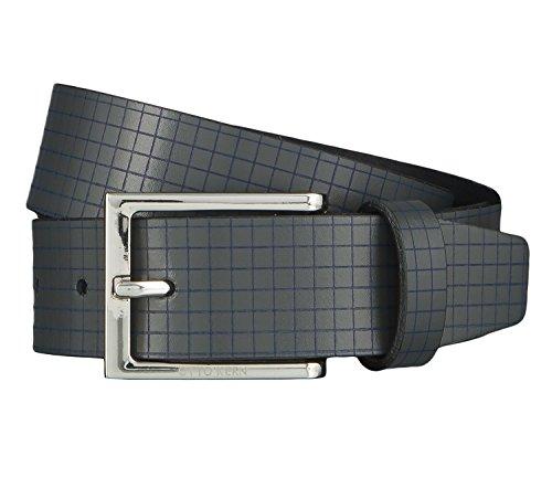OTTO KERN Cintura di uomini Cintura di Pelle bigio 4492, Länge:115 cm;Farbe:grau