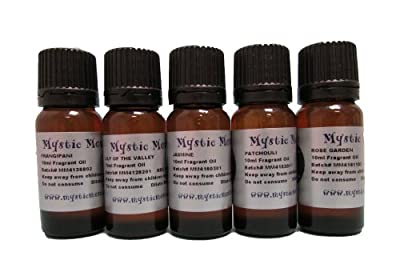 Fragrant Oil Starter Pack - Floral Favourite Oils - 5 x 10ml - 100% Pure from Mystic Moments