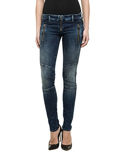 Replay - Biker, Jeans da donna, blu (blau  (blue denim 7)), 27W x Regular
