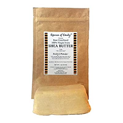 Raw Shea Butter, Unrefined 100% Organic African, Natural Moisturizer, (16oz) Unprocessed Highest Grade Premium Shea Butter. The Best Shea Butter to Protect Your Skin