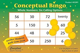 Conceptual Bingo - Whole Numbers