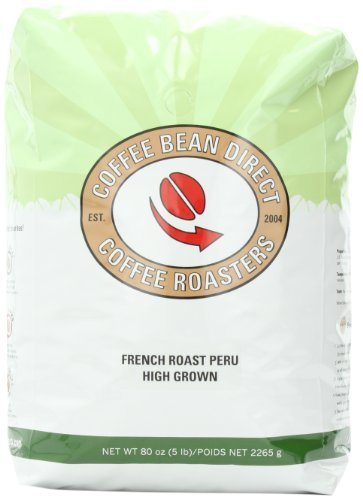 French Roast Peru, Whole Bean Coffee, 5-Pound Bag by Coffee Bean Direct (Coffee Bean Direct Peru compare prices)
