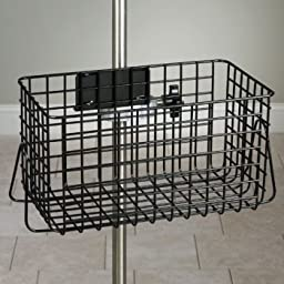 IV Pole Stainless Steel Heavy Duty Wire Basket - 12x6x6-1/2 - CL-IV-52S