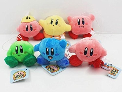 New Kirby Plush toys Standing Pose Doll 7cm 6pcs/set plush pendant baby toys (Kirby Green compare prices)