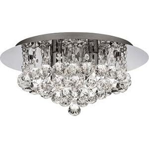 3404-4CC Hanna 4 Light Flush Ceiling Crystal Light by Searchlight lighting