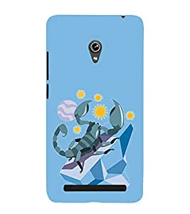 Scorpion vector Design 3D Hard Polycarbonate Designer Back Case Cover for Asus Zenfone 5 A501CG :: Asus Zenfone 5 Intel Atom Z2520 :: Asus Zenfone 5 Intel Atom Z2560