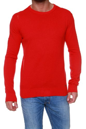 Pierre Balmain Maglioncino cachemire MAGLIA, uomo, Colore: Rosso, Taglia: 52