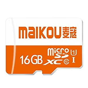 Maikou Class10 Micro SD TF High Speed Memory Card 16GB - Orange