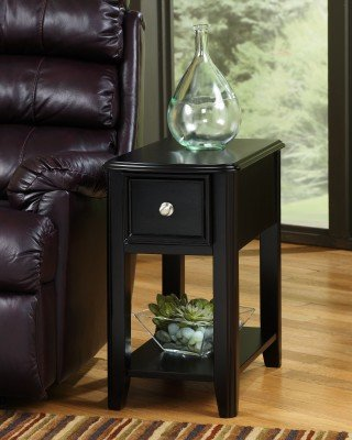 Cheap Contemporary Dark Brown Chair Side End Table (T007-371)