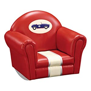 Guidecraft Retro Racers Upholstered Rocker from Guidecraft Inc