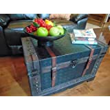 Old fashioned 2 Storage Wooden Treasure Chest - Large-Medium