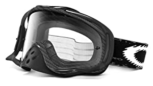 Oakley Crowbar Graphic Frame MX Goggles (True Carbon Fiber Frame/Clear Lens, One Size)