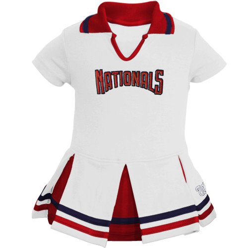MLB Majestic Washington Nationals Infant Girls Cheer Dress - White (18 Months) at Amazon.com