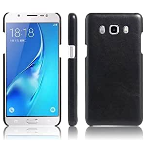 CZap Premium Leather Back Case Cover for Samsung Galaxy J2 2016 - Black