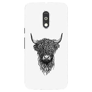 Back cover for Moto G (4th Gen) Hairy Bull