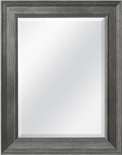 MCS 20448  15.5 by 21.5-Inch Beveled Mirror with 21.5 by 27.5-Inch Frame, Pewter