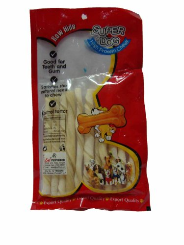 Super Dog Chew White Twist Sticks 100 Gm (pack Of 2)