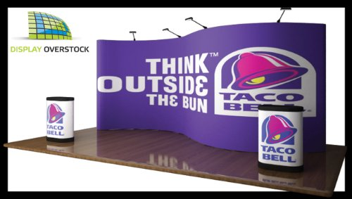Trade Show Booth Pop Up Display Exhibit - 20' Serpentine W/ Full Graphics
