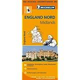 Michelin England Nord, Midlands: Straßen- und Tourismuskarte 1:400.000 (MICHELIN Regionalkarten)