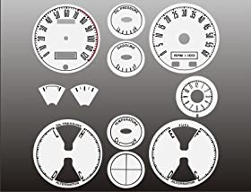1967-1968 Ford Mustang White Face Gauges