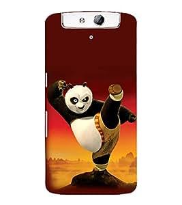 printtech Kungfu Panda Back Case Cover for Oppo N1