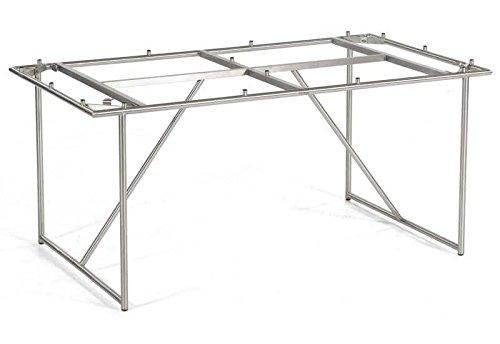"""SonnenPartner Rundrohr Edelstahl-Tischgestell """"Base"""" 200×100 by Müsing günstig kaufen"""
