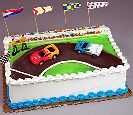 Stock Car Racing Cake Decorating Topper Set: Amazon.co.uk ...