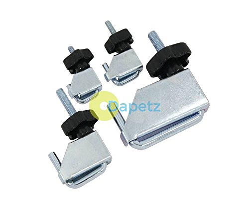 Dapetz ® 4 Piece Fuel Brake Line Water Pipe Brake Pipe Hose Clamp Clamps Set
