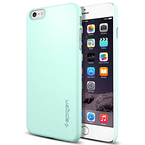 iPhone 6 Plus ケース Spigen [滑り防止加工] シン ・フィット Apple iPhone (5.5) (国内正規品) (ミント SGP11100)