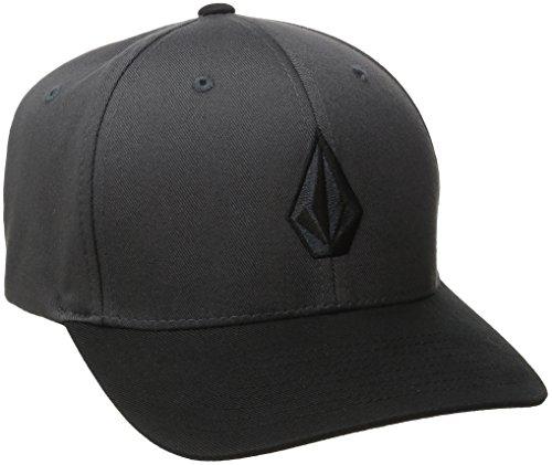 volcom-herren-baseballmutze-full-stone-xfit-asphalt-black-s-m-d5511105asb
