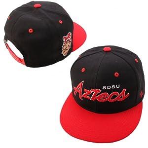 Buy NCAA San Diego State Aztecs Headliner 2Tone Snapback Cap, Black by Zephyr