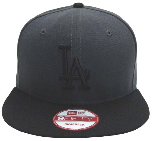 Buy Los Angeles Dodgers Retro New Era Logo Hat Cap Snapback Charcoal Black