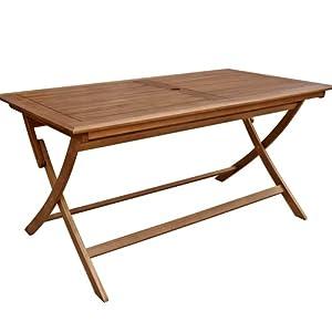 Table en bois massif de jardin pliante 70 x 120 cm cuisine maison - Table jardin pliante bois ...