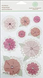 Martha Stewart Crafts Stickers, Doily Tag Flowers