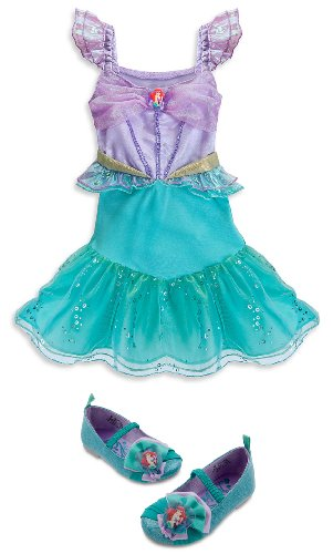 Disney Store Princess Ariel Little Mermaid Halloween Costume Size 2T with Shoes