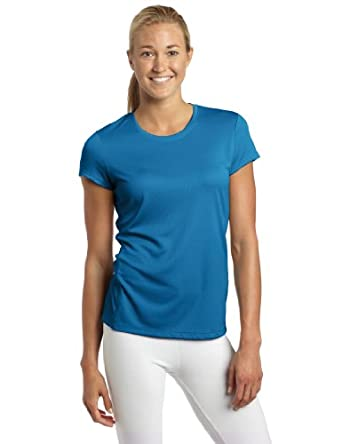 Asics Women's Core Short Sleeve Shirt, Peacock, Medium