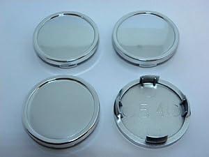 """4x NO LOGO – Wheel Center Caps – 2.11""""(54mm) / 2.28""""(58mm) – Silver Chrome"""