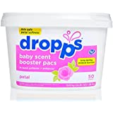 Dropps Baby Scent Booster Pacs with In-Wash Softener + Enhancer, Petal, 50 Loads