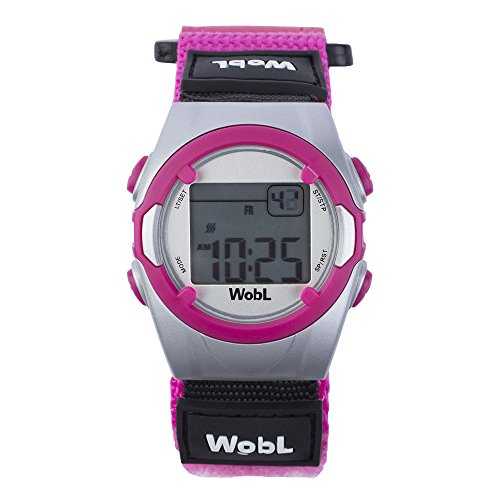 Wobl 8 Alarm Vibrating Watch - Pink front-803010