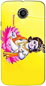 Timpax Light Weight Hard Back Case Cover Printed Design : Sri Krishna.100% Compatible with Motorola Moto X-2 ( 2nd Gen )