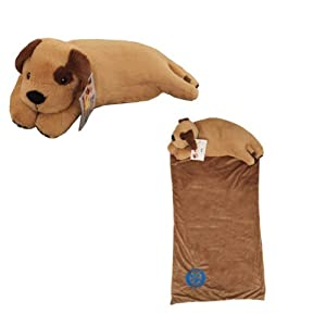 Amazon.com: Snuggle Buds 3-in-1 Sleeping Bag, Pillow & Plush Animal: Puppy Dog: Everything Else