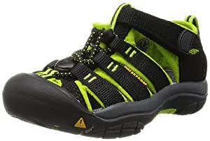 KEEN Newport H2 Sandal (Toddler/Little Kid/Big Kid),Black/Lime Green,1 M US Little Kid