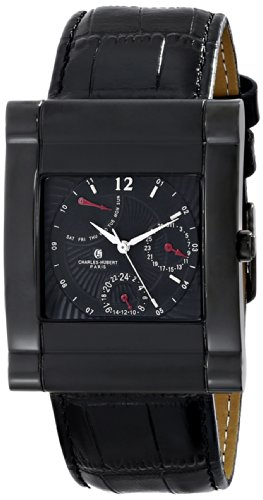 Charles-Hubert, Paris Men'S 3950-B Premium Collection Analog Display Japanese Quartz Black Watch