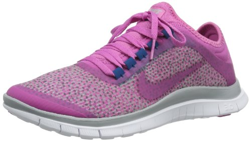 Nike Women's Free 3.0 V5 EXT Running Sneaker, Wolf Grey/Red Violet (6.5)
