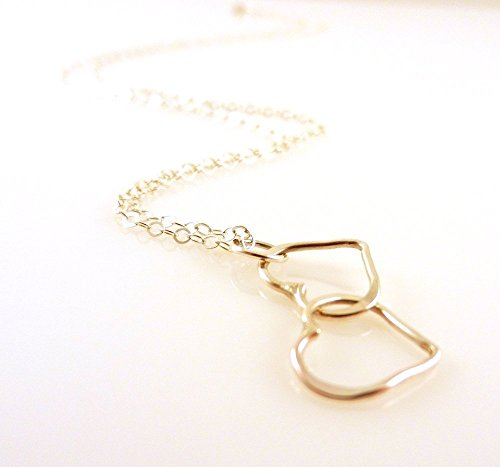 [Sterling Silver Open Heart Pendant Simple Necklace 18 Inches Long Chain for Valentine's Day] (Simple Creative Costumes)