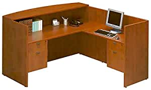 Ndi Office Furniture Pl169 180 107 2 Bow Front Desk Workstation With Reception