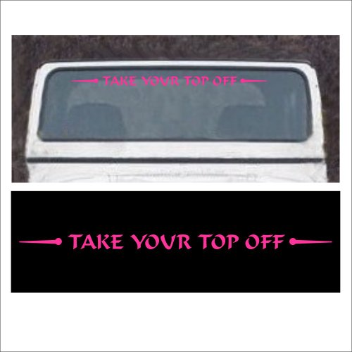 Take Your Time Off Pink Jeep Windshield Decal For Jeep