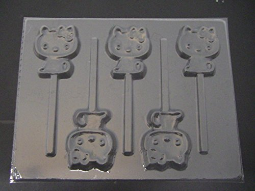 Bye Bye Kitty Chocolate Candy Lollipop Mold Hello Kitty by Molds n More