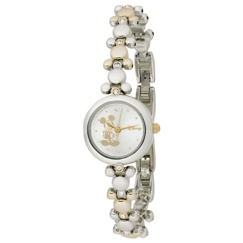Disney Women's MCK313 Mickey Mouse Two-Tone Link Bracelet Watch