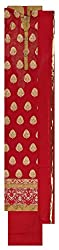 Punjaban Boutique Women's Georgette Unstitched Dress Material (Red)